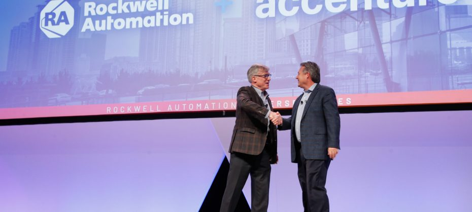 Blake Moret, Rockwell Automation Chairman and CEO and Mike Sutcliff, group chief executive of Accenture Digital